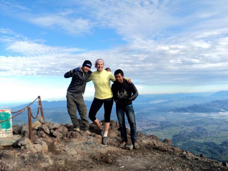 Climbing Marapi
